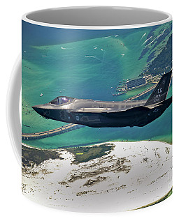 An F-35 Lightning II Flies Over Destin Coffee Mug