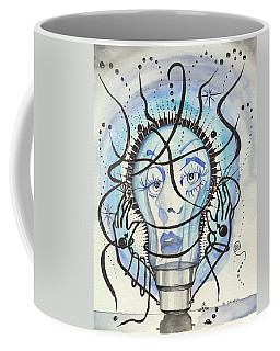 Coffee Mug featuring the digital art An Idea by Darren Cannell