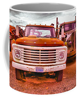 Coffee Mug featuring the photograph An Old Ford And Kenworth by Jeff Swan