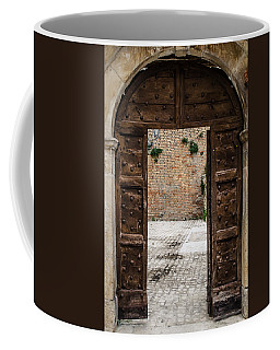An Old Wooden Door 2 Coffee Mug by Andrea Mazzocchetti