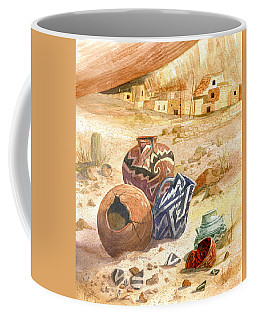 Coffee Mug featuring the painting Anasazi Remnants by Marilyn Smith