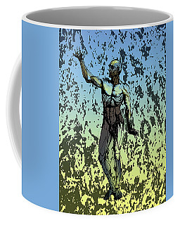 Anatomical Man In Blue And Yellow Coffee Mug