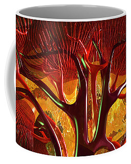 Coffee Mug featuring the digital art Anatomy Abstract #1 Kidney by Russell Kightley