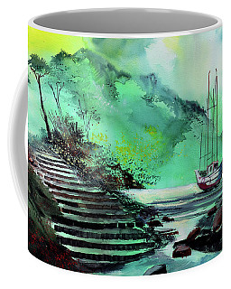 Coffee Mug featuring the painting Anchored by Anil Nene