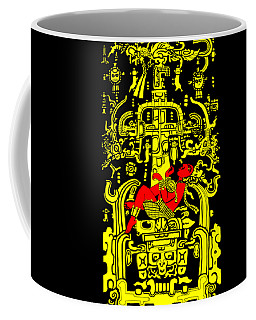 Ancient Astronaut Yellow And Red Version Coffee Mug