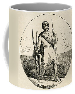 Ancient Briton With Coracle And Plow Coffee Mug