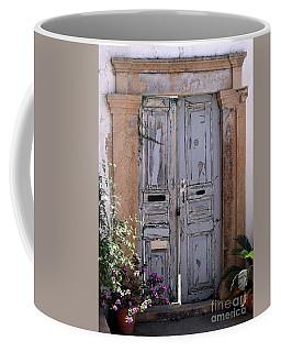 Ancient Garden Doors In Greece Coffee Mug