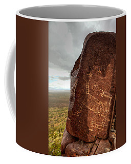 Ancient Petroglyph At Three Rivers Petroglyph Site Coffee Mug