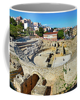 Coffee Mug featuring the photograph Ancient Roman Amphitheater In Spain by Eduardo Jose Accorinti