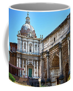 Coffee Mug featuring the photograph Ancient Ruins At The Roman Forum by Eduardo Jose Accorinti