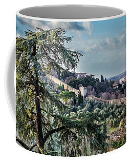 Coffee Mug featuring the photograph Ancient Walls Of Florence by Sonny Marcyan