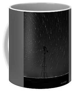 And The Stars Rained Down Black And White Coffee Mug