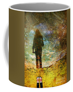 And Then He Turned Her World Upside Down Coffee Mug by Tara Turner