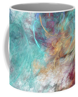 Coffee Mug featuring the digital art Andee Design Abstract 4 2015 by Andee Design