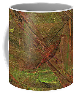 Coffee Mug featuring the digital art Andee Design Abstract 49 2017 by Andee Design