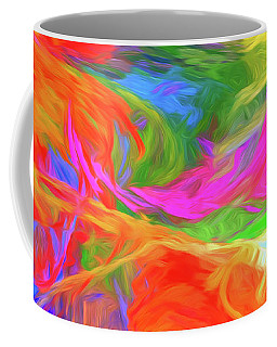 Coffee Mug featuring the digital art Andee Design Abstract 5 2015 by Andee Design
