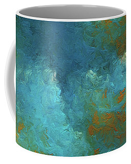 Coffee Mug featuring the digital art Andee Design Abstract 55 2017 by Andee Design