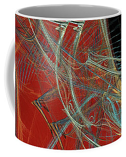 Coffee Mug featuring the digital art Andee Design Abstract 60 2017 by Andee Design
