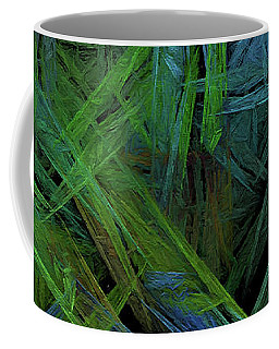 Coffee Mug featuring the digital art Andee Design Abstract 61 2017 by Andee Design