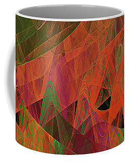Coffee Mug featuring the digital art Andee Design Abstract 62 2017 by Andee Design