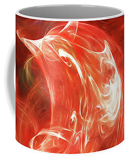 Coffee Mug featuring the digital art Andee Design Abstract 64 2017 by Andee Design