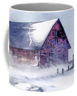 Coffee Mug featuring the painting Anderson Dock Winter Storm by Christopher Arndt