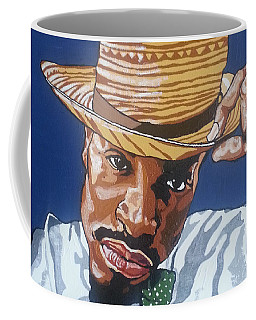 Coffee Mug featuring the painting Andre Benjamin by Rachel Natalie Rawlins