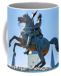 Andrew Jackson Statue - Nola- Impasto Coffee Mug by Kathleen K Parker