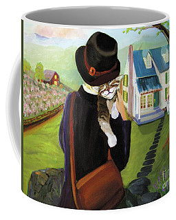 Coffee Mug featuring the painting Andy's Home by Donna Hall