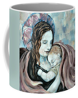 Angel And Baby No. 5 Coffee Mug by Carrie Joy Byrnes