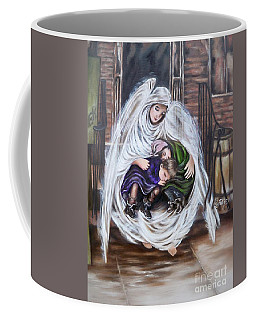Flying Lamb Productions.        Angel And The Orphans Coffee Mug