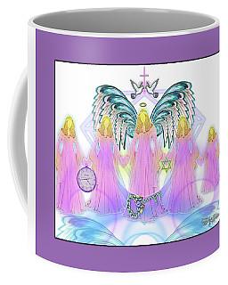 Coffee Mug featuring the digital art Angel Cousins #198 by Barbara Tristan