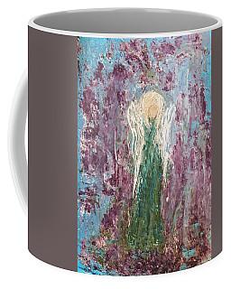Angel Draped In Hydrangeas Coffee Mug