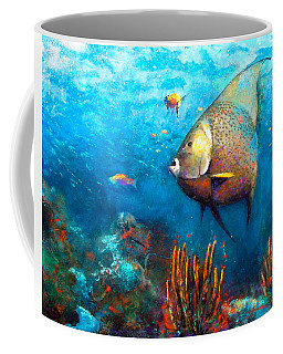 Coffee Mug featuring the painting Angel Fish by Andrew King