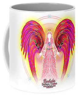 Coffee Mug featuring the digital art Angel Intentions Divine Timing by Barbara Tristan