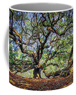 Angel Oak In Digital Oils Coffee Mug