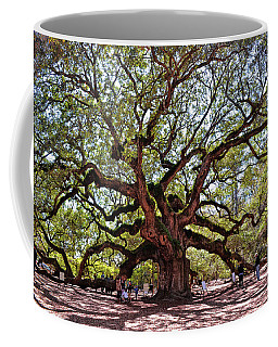 Angel Oak Tree 009 Coffee Mug by George Bostian