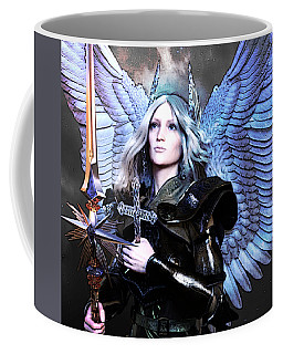 Coffee Mug featuring the digital art Angel Poster by Suzanne Silvir