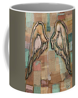 Coffee Mug featuring the painting Angel Wings by Carrie Joy Byrnes