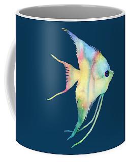 Angelfish I - Solid Background Coffee Mug