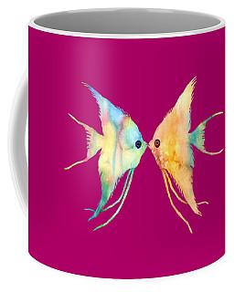 Angelfish Kissing Coffee Mug