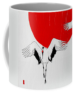Angelic Crane Coffee Mug