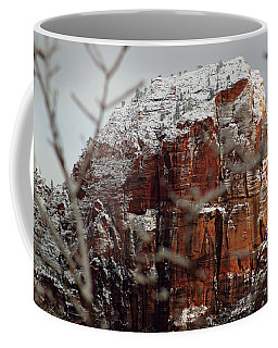 Angels Landing Under Snow Coffee Mug