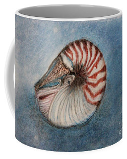 Coffee Mug featuring the painting Angel's Seashell  by Kim Nelson