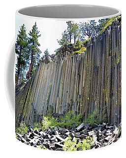 Angle View Desert Postpile Coffee Mug