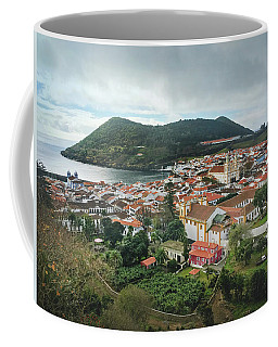 Coffee Mug featuring the photograph Angra Do Heroismo And Monte Brasil, Terceira Island by Kelly Hazel