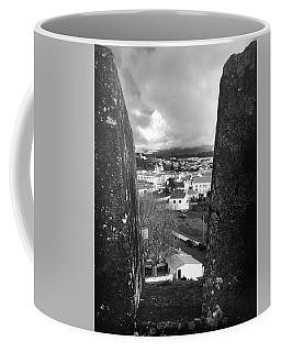 Angra Do Heroismo From Monte Brasil In Black And White Coffee Mug