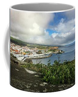 Angra Do Heroismo Port And Split Rock Islet Coffee Mug