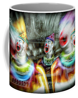 Coffee Mug featuring the photograph Angry Clowns by Wayne Sherriff