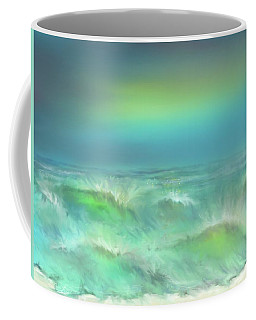 Coffee Mug featuring the digital art Angry Irma by Darren Cannell